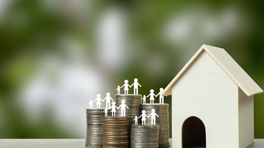 Home loans, cheap home projects, first homes to start a family concept.