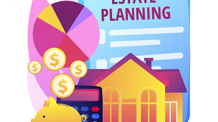Estate planning abstract concept vector illustration.