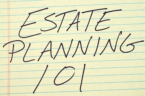 Estate Planning 101 On A Yellow Legal Pad
